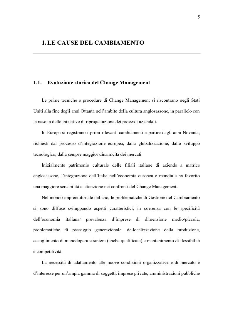 Anteprima della tesi: Il Significato del Change Management, Pagina 6