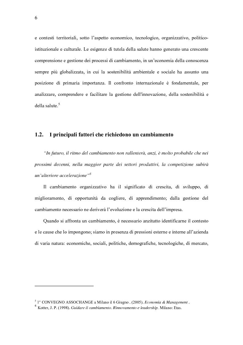 Anteprima della tesi: Il Significato del Change Management, Pagina 7
