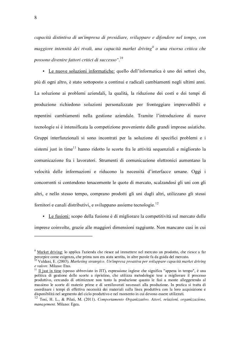 Anteprima della tesi: Il Significato del Change Management, Pagina 9