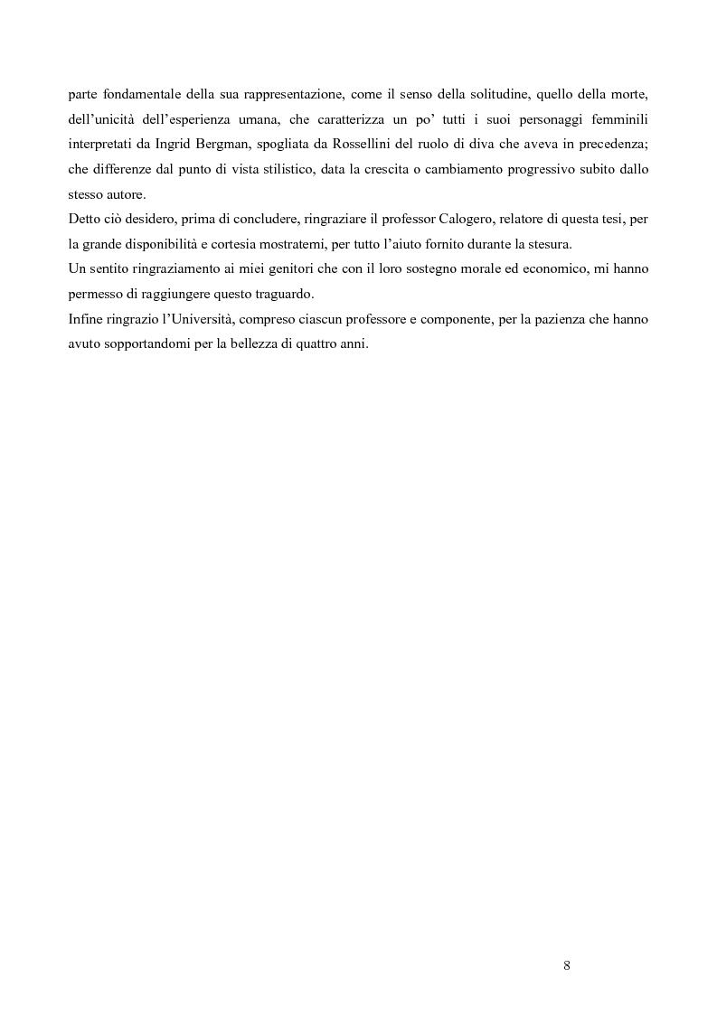 Anteprima della tesi: La trilogia della solitudine nella filmografia di Roberto Rossellini, Pagina 3