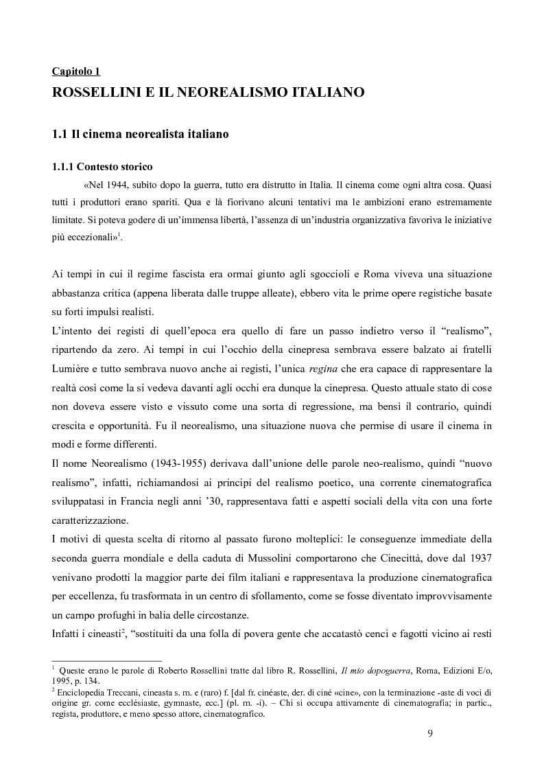 Anteprima della tesi: La trilogia della solitudine nella filmografia di Roberto Rossellini, Pagina 4