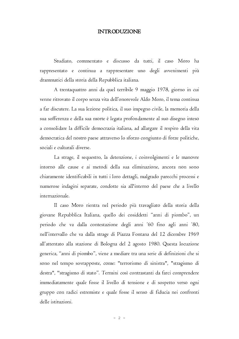 Anteprima della tesi: Il caso Moro e gli intellettuali, Pagina 2