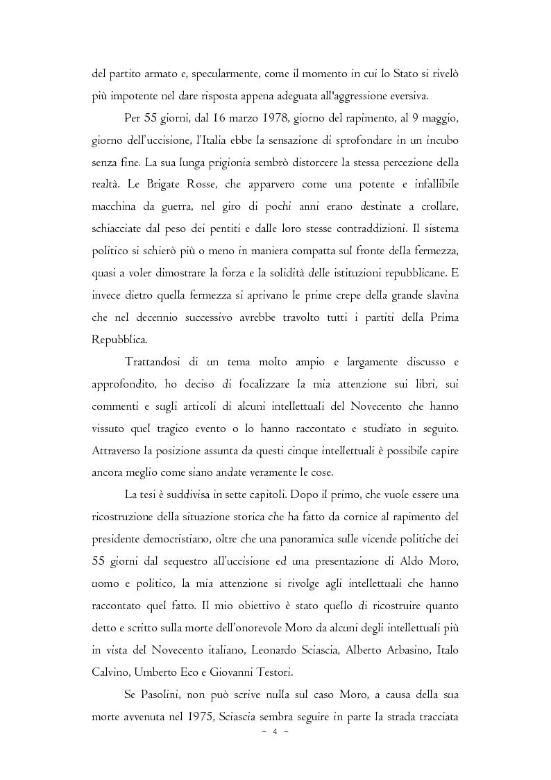 Anteprima della tesi: Il caso Moro e gli intellettuali, Pagina 4
