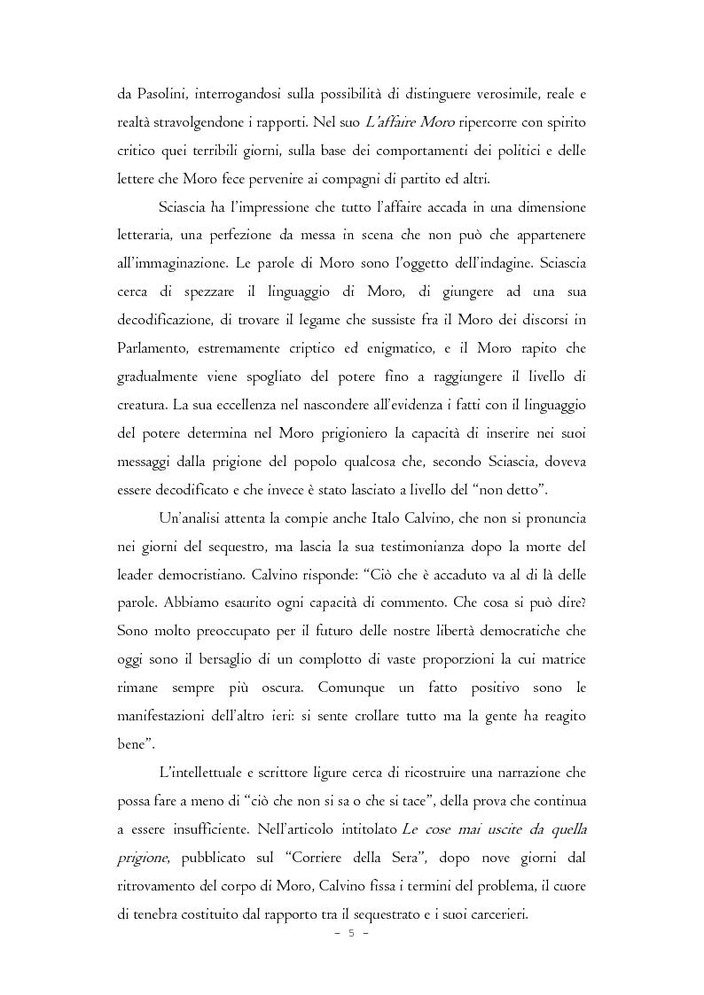 Anteprima della tesi: Il caso Moro e gli intellettuali, Pagina 5
