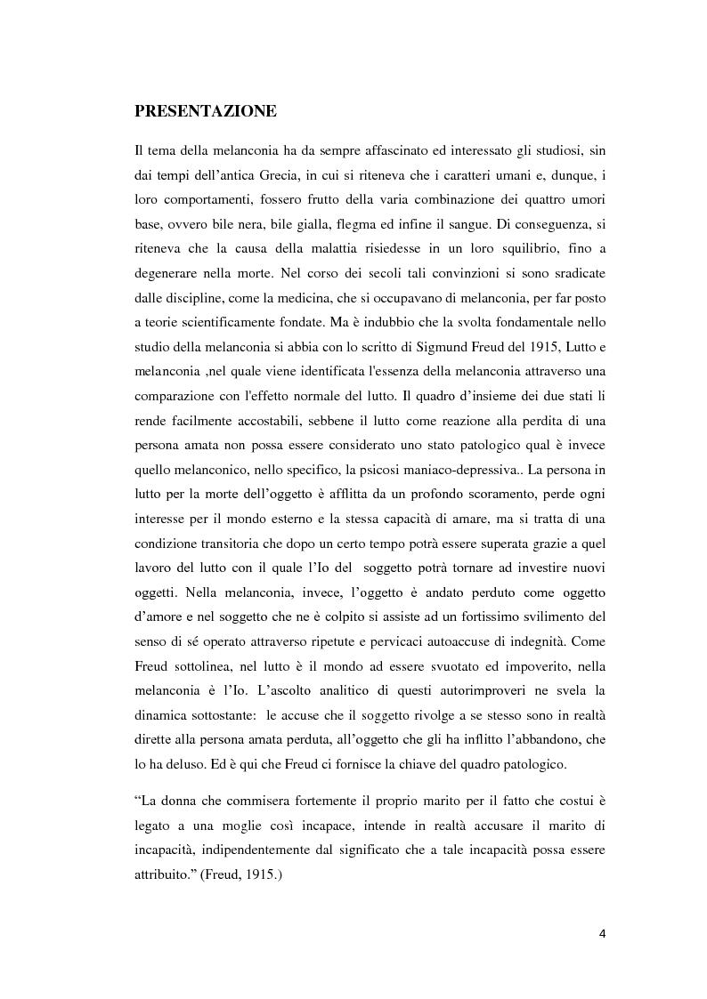 Anteprima della tesi: Un percorso melanconico, Pagina 2