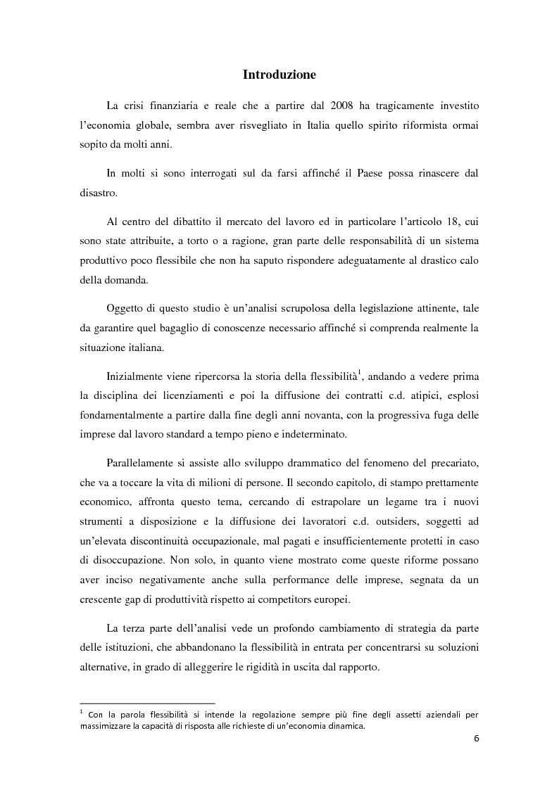 Anteprima della tesi: La ricerca della flessibilità. Competitività e tutele nel mercato globale, Pagina 3