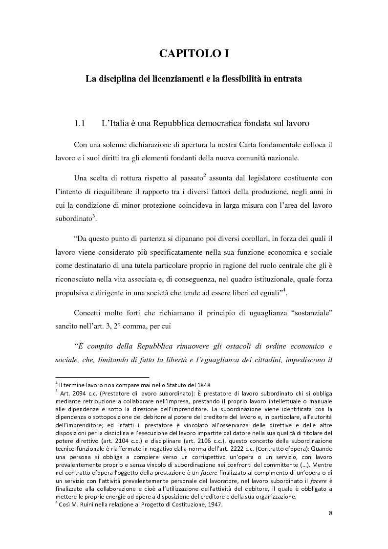 Anteprima della tesi: La ricerca della flessibilità. Competitività e tutele nel mercato globale, Pagina 5