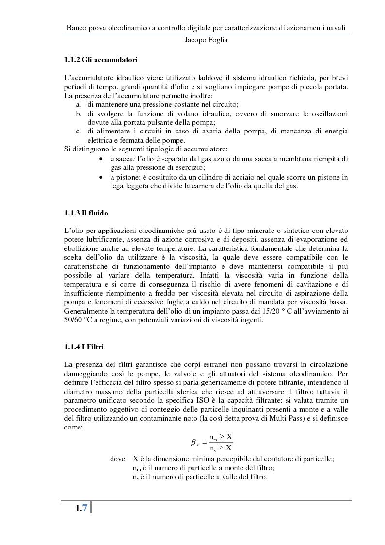 Anteprima della tesi: Progetto e realizzazione di un banco prova oleodinamico a controllo digitale per caratterizzazione di azionamenti navali, Pagina 10