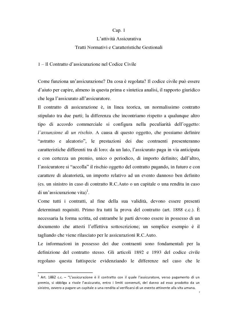 Anteprima della tesi: Le Polizze RCAuto; Profili di rischio e analisi del fenomeno della fraudolenza, Pagina 4