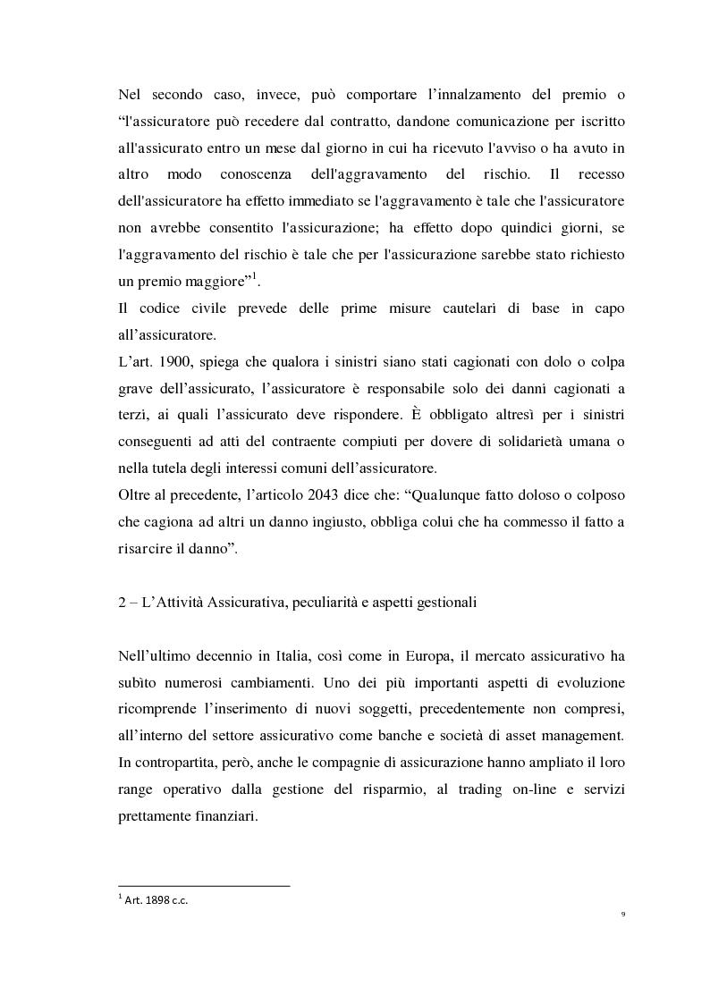 Anteprima della tesi: Le Polizze RCAuto; Profili di rischio e analisi del fenomeno della fraudolenza, Pagina 6