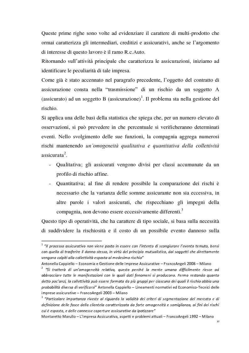 Anteprima della tesi: Le Polizze RCAuto; Profili di rischio e analisi del fenomeno della fraudolenza, Pagina 7