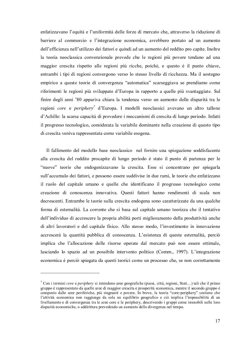 Anteprima della tesi: Valutare la politica di coesione dell'UE: l'approccio quantitativo dei modelli macroeconomici, Pagina 10