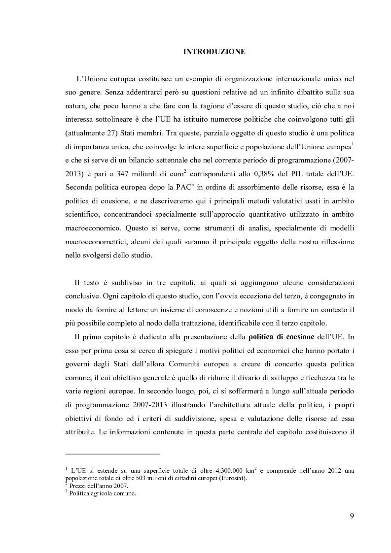 Anteprima della tesi: Valutare la politica di coesione dell'UE: l'approccio quantitativo dei modelli macroeconomici, Pagina 2