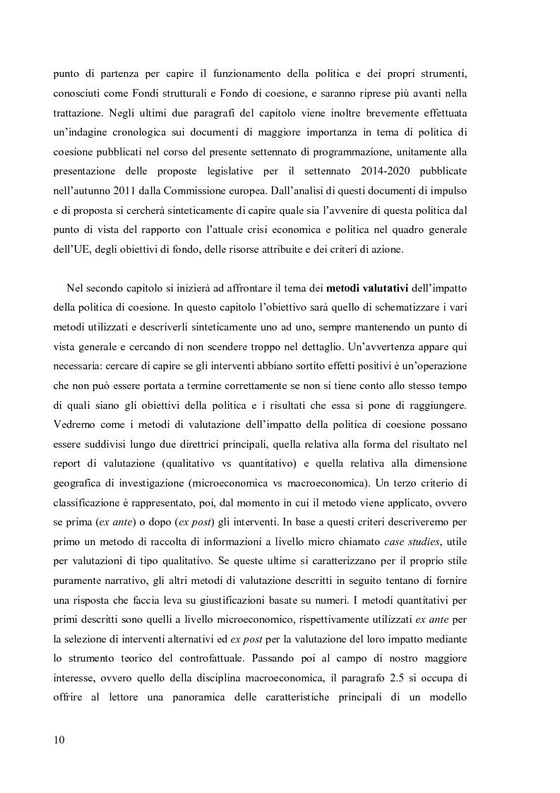 Anteprima della tesi: Valutare la politica di coesione dell'UE: l'approccio quantitativo dei modelli macroeconomici, Pagina 3