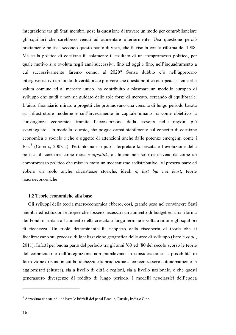 Anteprima della tesi: Valutare la politica di coesione dell'UE: l'approccio quantitativo dei modelli macroeconomici, Pagina 9