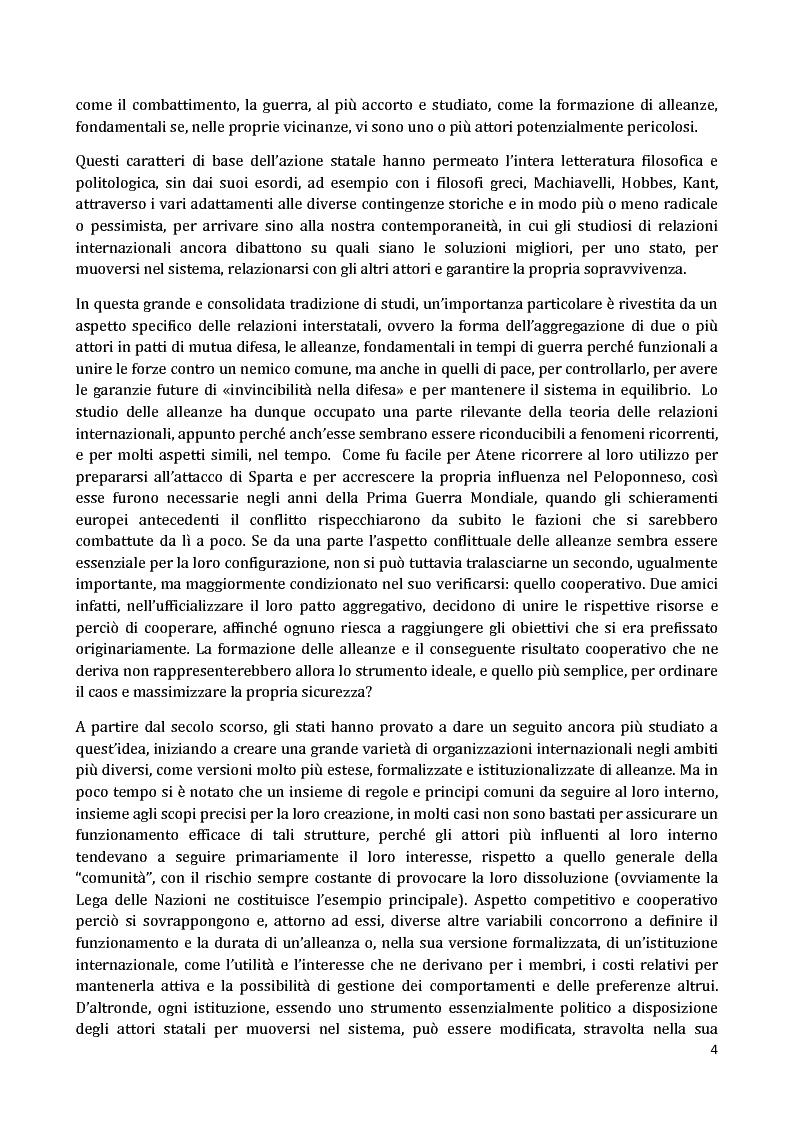 Anteprima della tesi: I Partnership Frameworks dell'Alleanza Atlantica: Istituzionalismo e Neorealismo a confronto, Pagina 3
