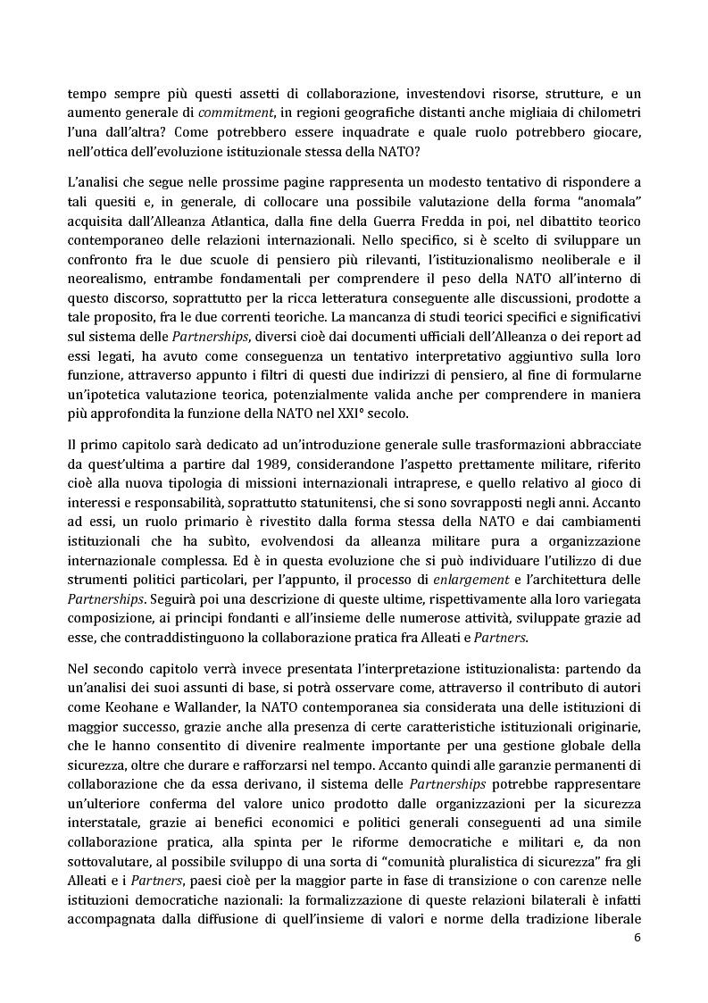 Anteprima della tesi: I Partnership Frameworks dell'Alleanza Atlantica: Istituzionalismo e Neorealismo a confronto, Pagina 5
