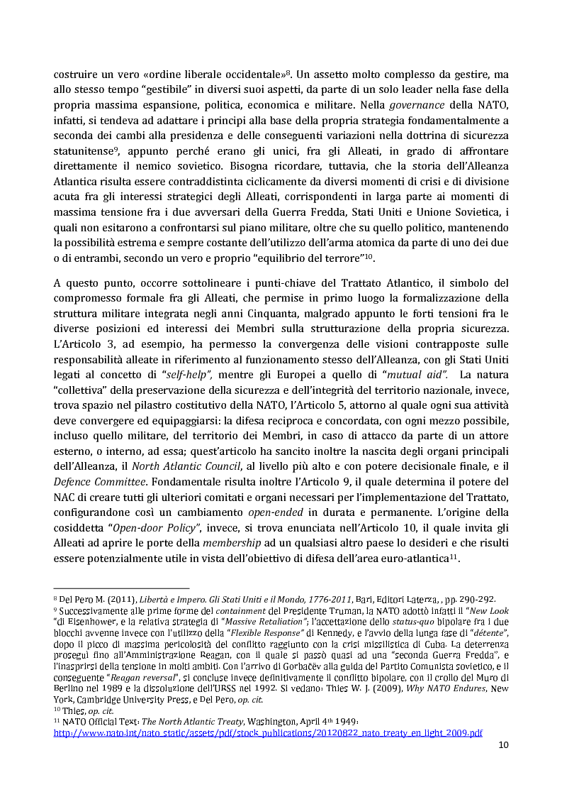 Anteprima della tesi: I Partnership Frameworks dell'Alleanza Atlantica: Istituzionalismo e Neorealismo a confronto, Pagina 9
