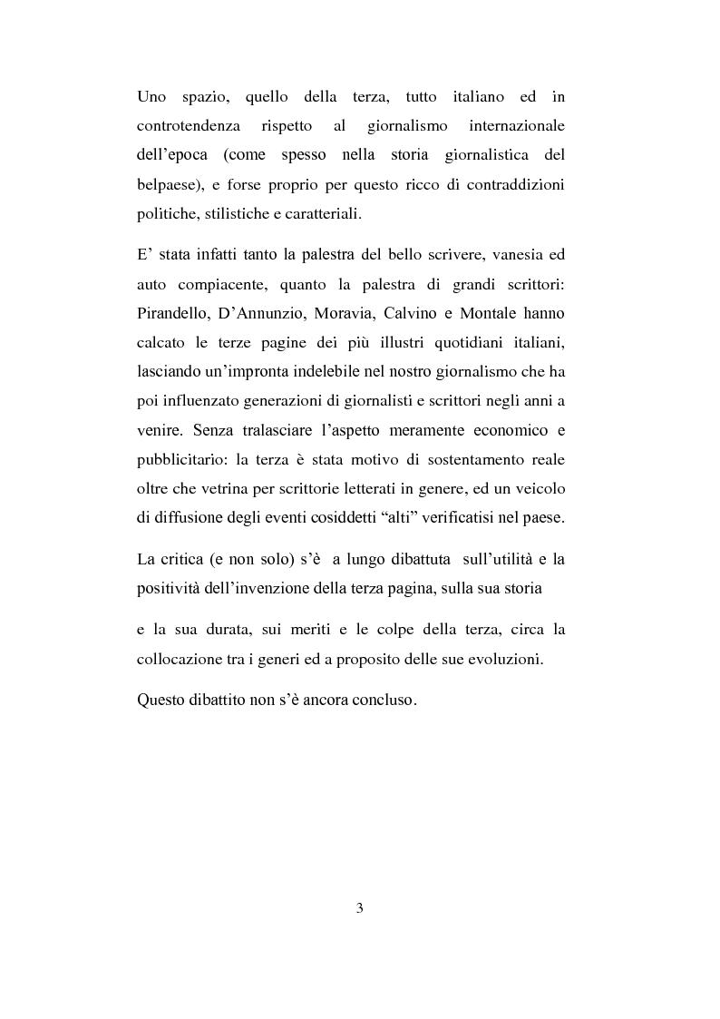 Anteprima della tesi: La Terza Pagina, Pagina 3