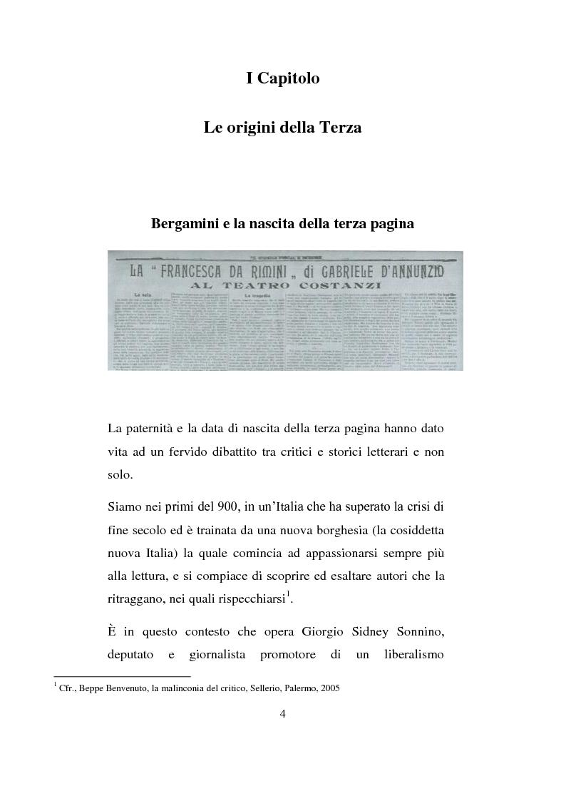 Anteprima della tesi: La Terza Pagina, Pagina 4