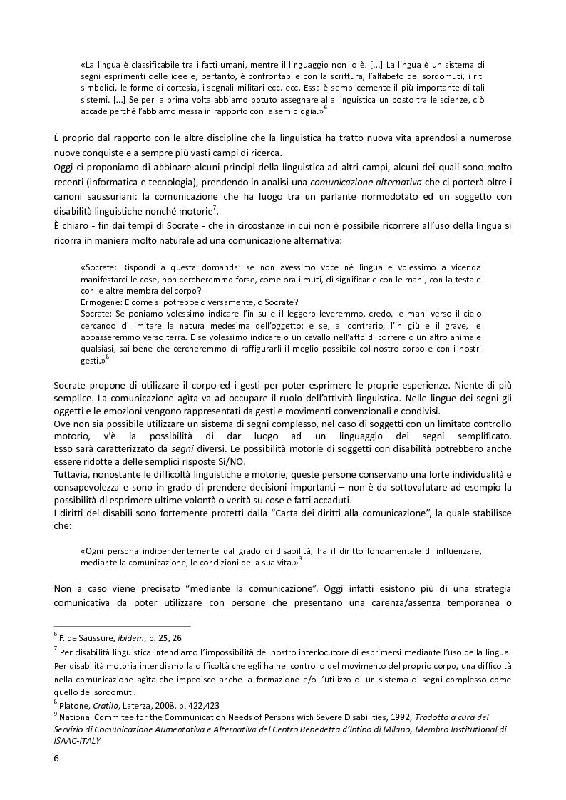Anteprima della tesi: Il ''Metodo Piesco'', un esperimento di Comunicazione Alternativa, Pagina 3