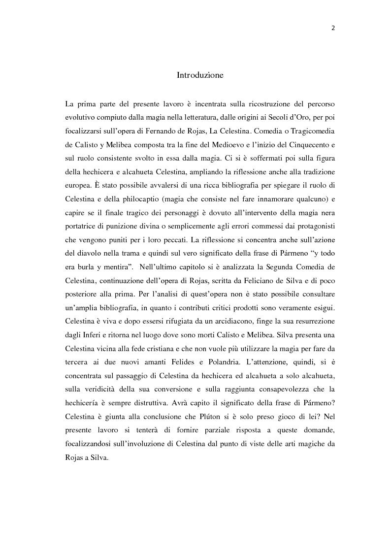 Anteprima della tesi: ''Y todo era burla y mentira''; la magia di Celestina tra Fernando de Rojas e Feliciano de Silva, Pagina 2