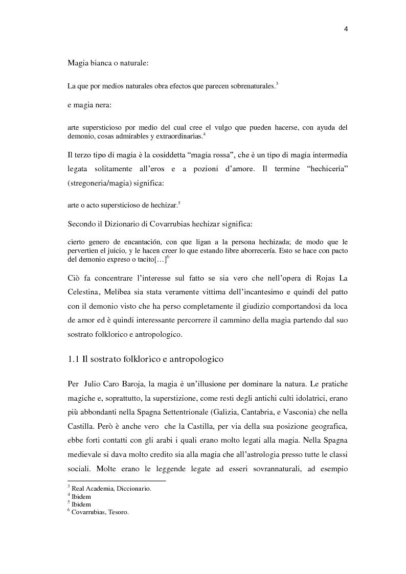 Anteprima della tesi: ''Y todo era burla y mentira''; la magia di Celestina tra Fernando de Rojas e Feliciano de Silva, Pagina 4