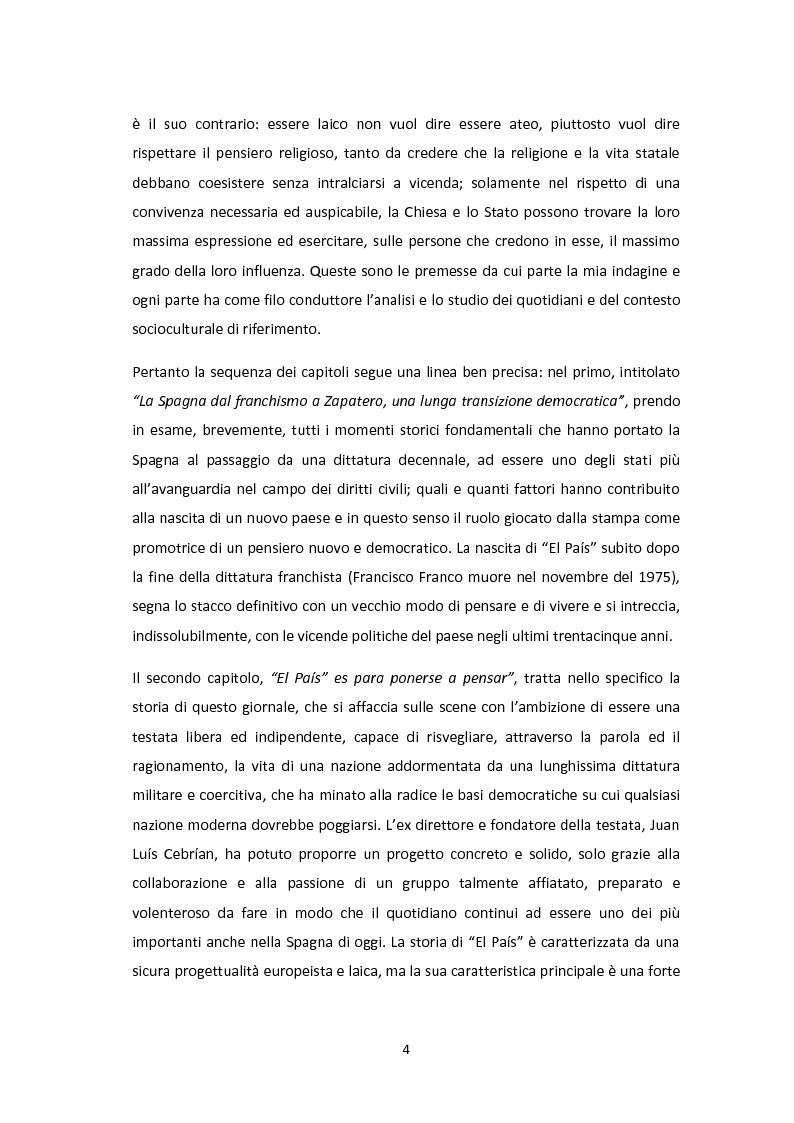 Anteprima della tesi: Linee editoriali a confronto. La Spagna di Zapatero tra ''El Paìs'' e ''la Repubblica'', Pagina 3
