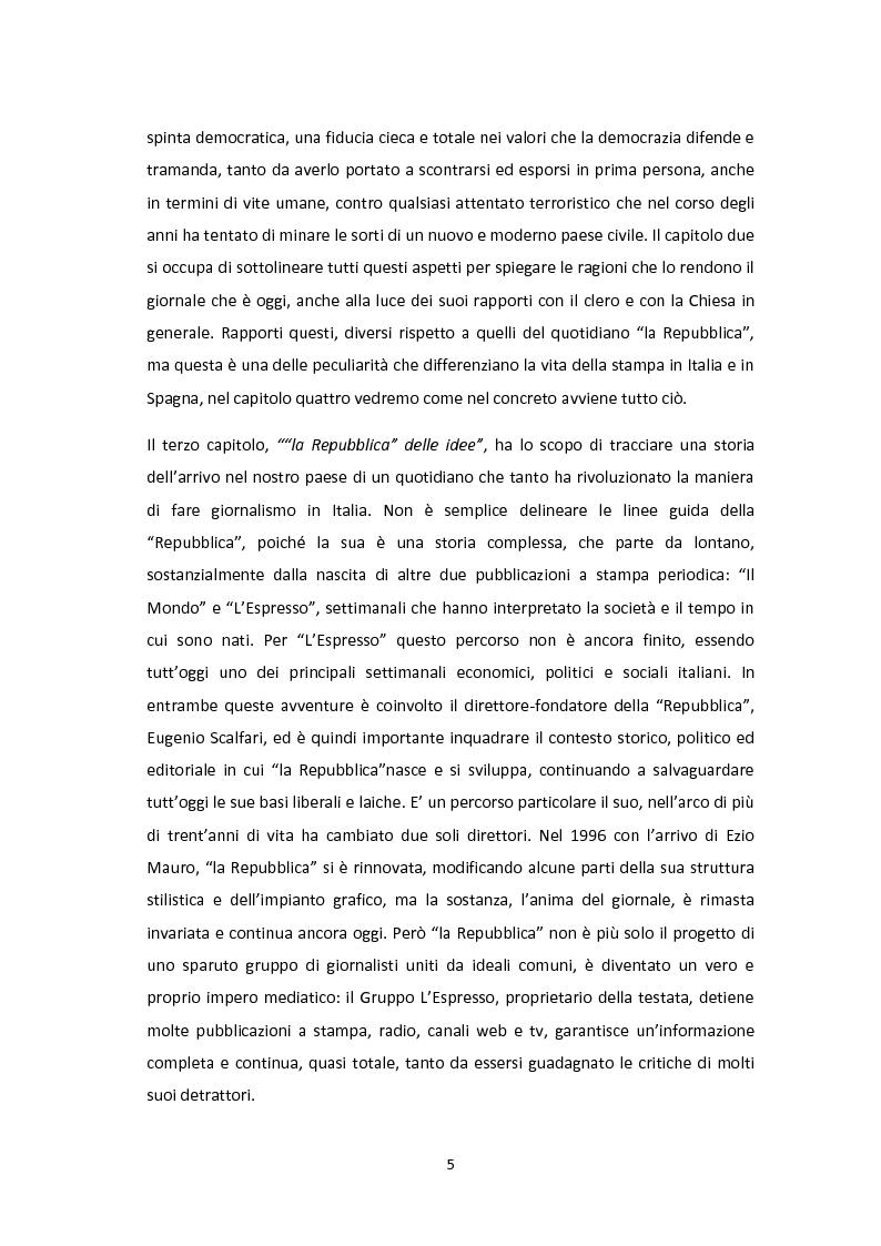 Anteprima della tesi: Linee editoriali a confronto. La Spagna di Zapatero tra ''El Paìs'' e ''la Repubblica'', Pagina 4
