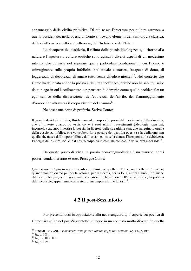 Anteprima della tesi: Profilo critico di Giuseppe Conte, Pagina 11