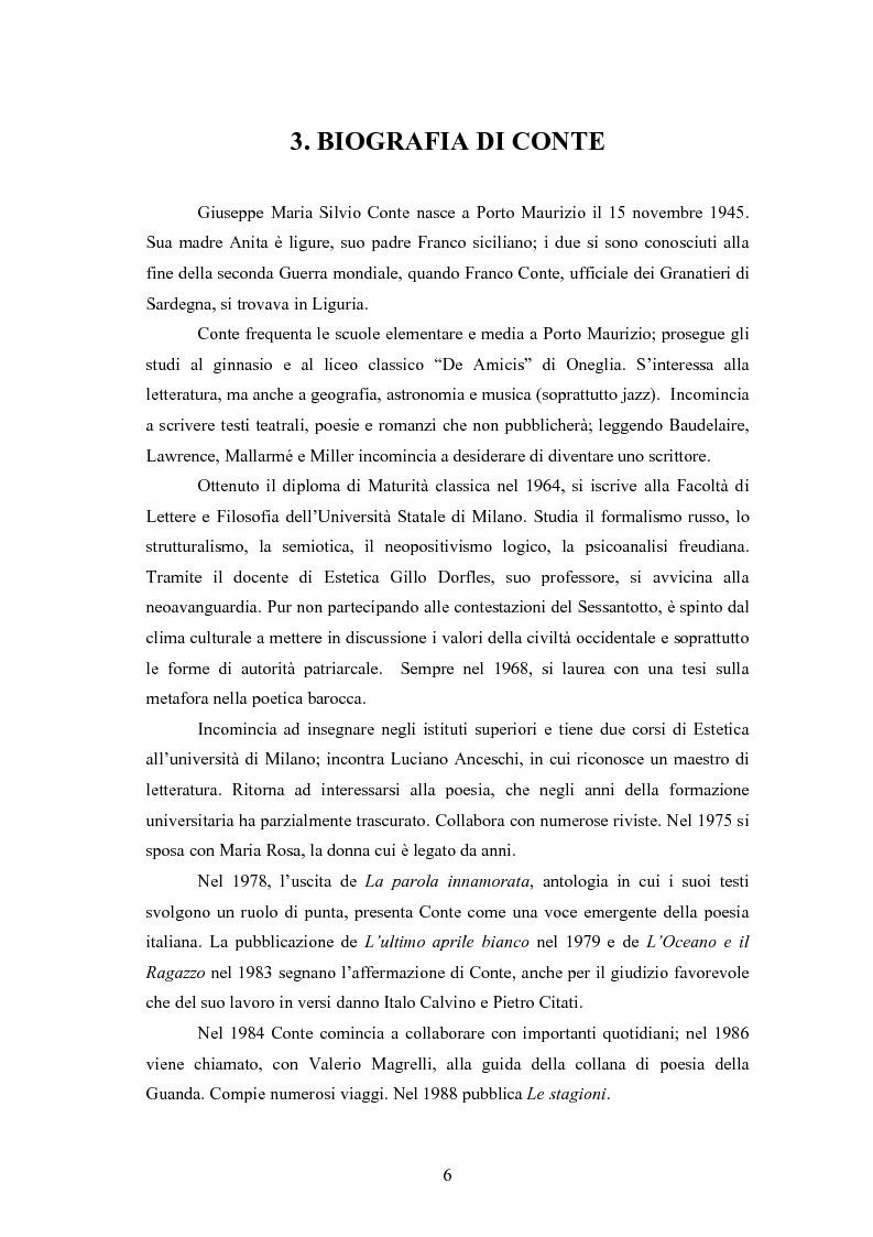 Anteprima della tesi: Profilo critico di Giuseppe Conte, Pagina 5
