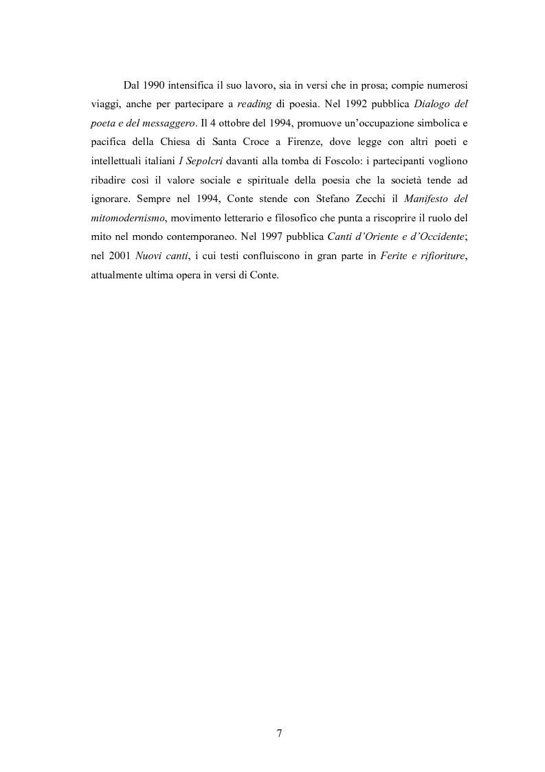 Anteprima della tesi: Profilo critico di Giuseppe Conte, Pagina 6