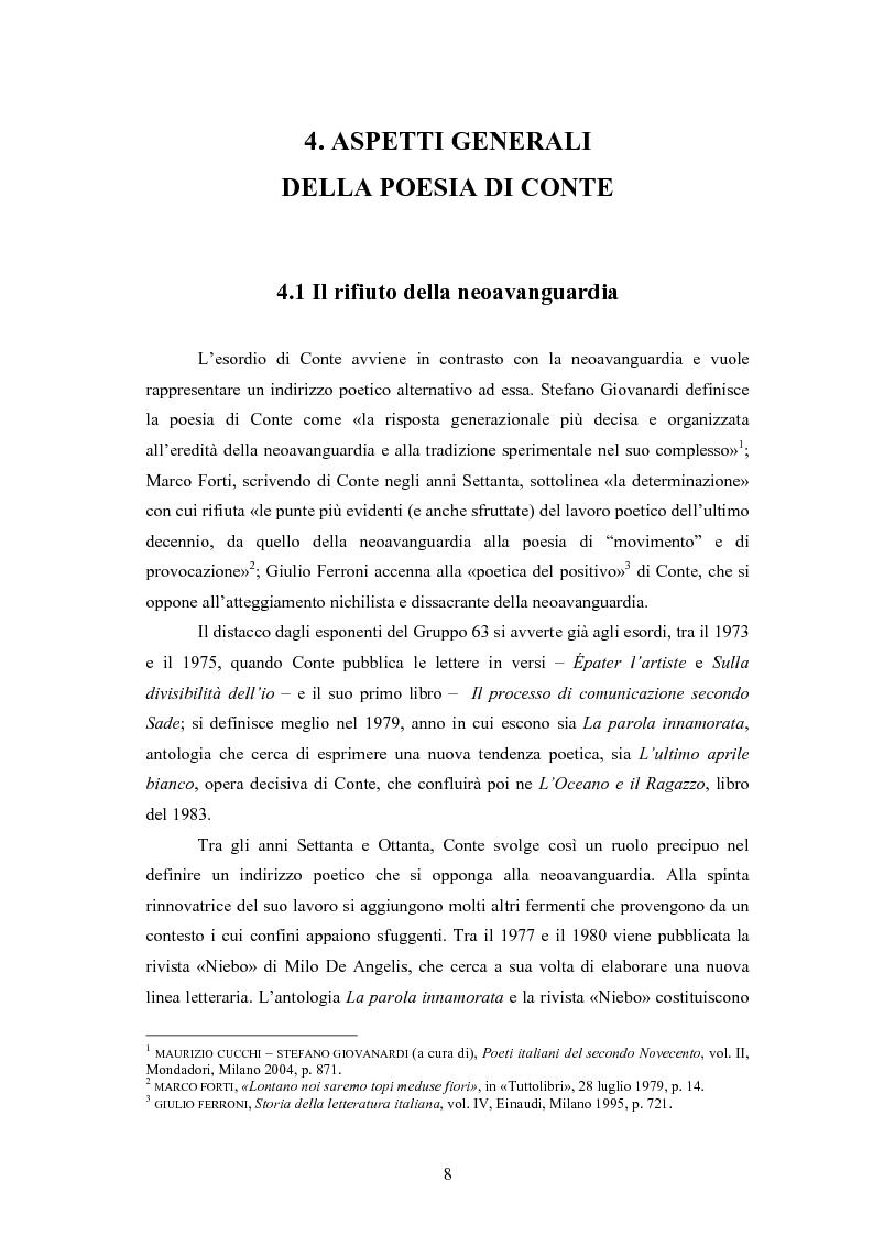 Anteprima della tesi: Profilo critico di Giuseppe Conte, Pagina 7