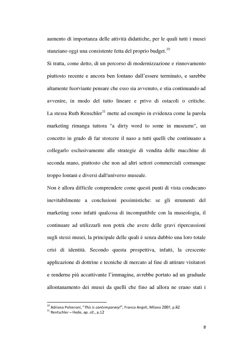 Anteprima della tesi: La comunicazione web dei musei di arte contemporanea, Pagina 9