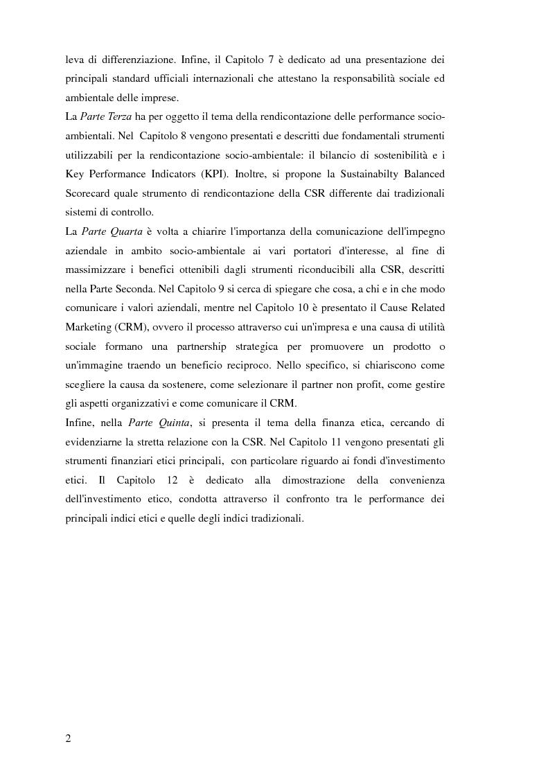 Anteprima della tesi: Business Ethics: creare valore sostenibile e condiviso attraverso la Corporate Social Responsibility, Pagina 3