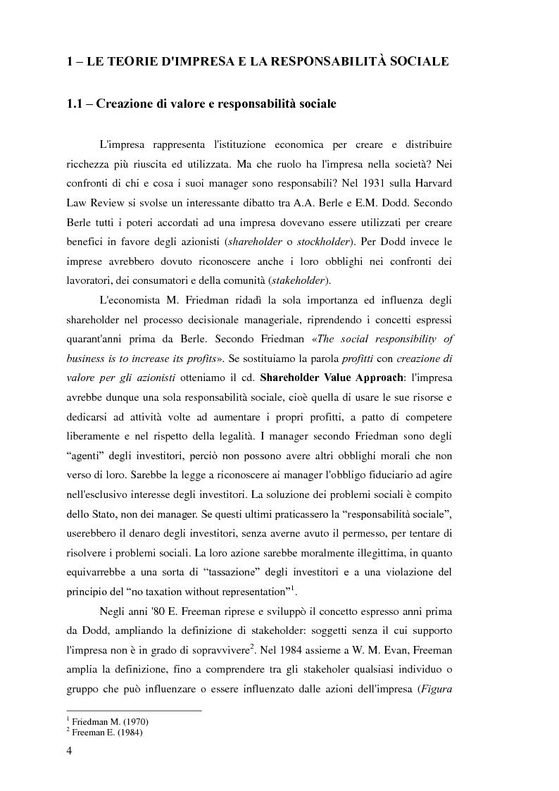 Anteprima della tesi: Business Ethics: creare valore sostenibile e condiviso attraverso la Corporate Social Responsibility, Pagina 5