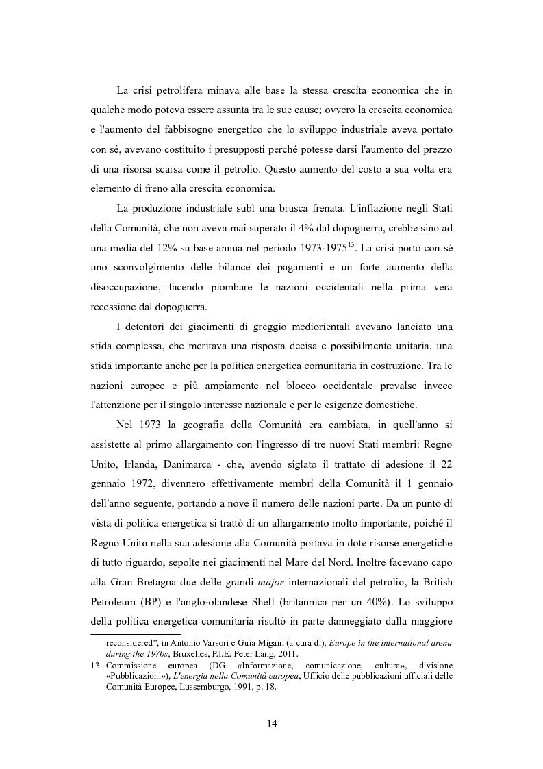 Anteprima della tesi: Le politiche per l'energia dell'Unione europea e le relazioni con l'area del Mar Caspio, 1989-1999., Pagina 13
