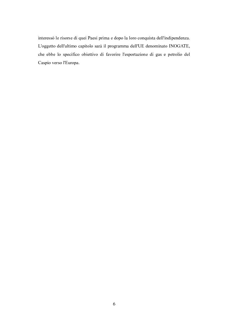 Anteprima della tesi: Le politiche per l'energia dell'Unione europea e le relazioni con l'area del Mar Caspio, 1989-1999., Pagina 5