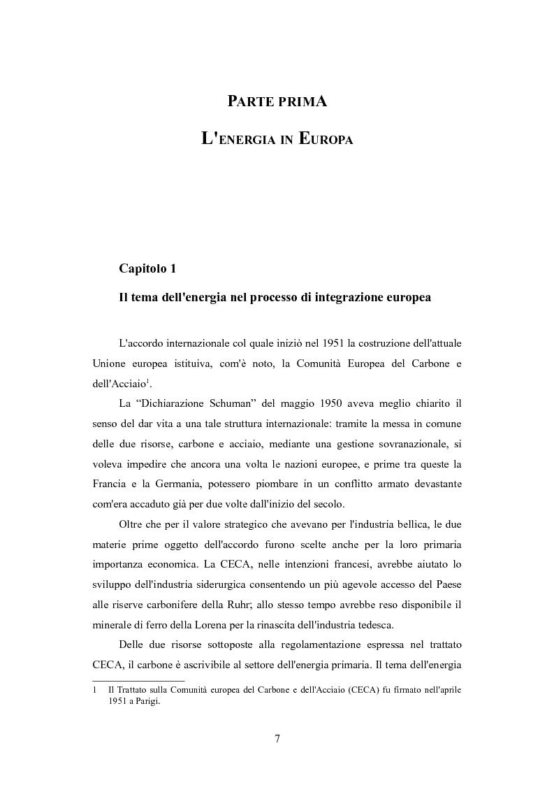Anteprima della tesi: Le politiche per l'energia dell'Unione europea e le relazioni con l'area del Mar Caspio, 1989-1999., Pagina 6