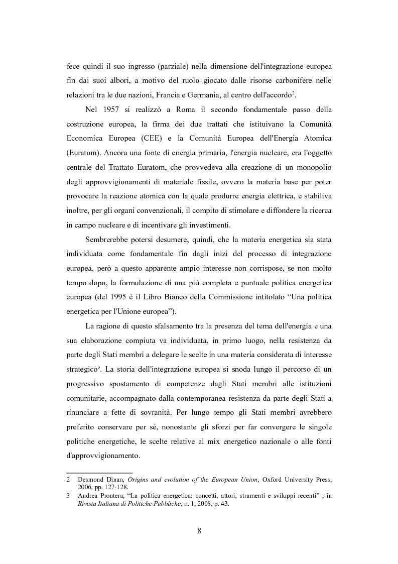 Anteprima della tesi: Le politiche per l'energia dell'Unione europea e le relazioni con l'area del Mar Caspio, 1989-1999., Pagina 7