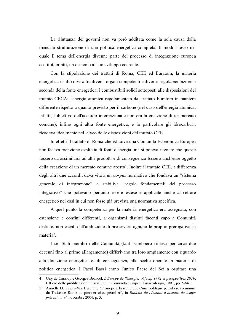 Anteprima della tesi: Le politiche per l'energia dell'Unione europea e le relazioni con l'area del Mar Caspio, 1989-1999., Pagina 8