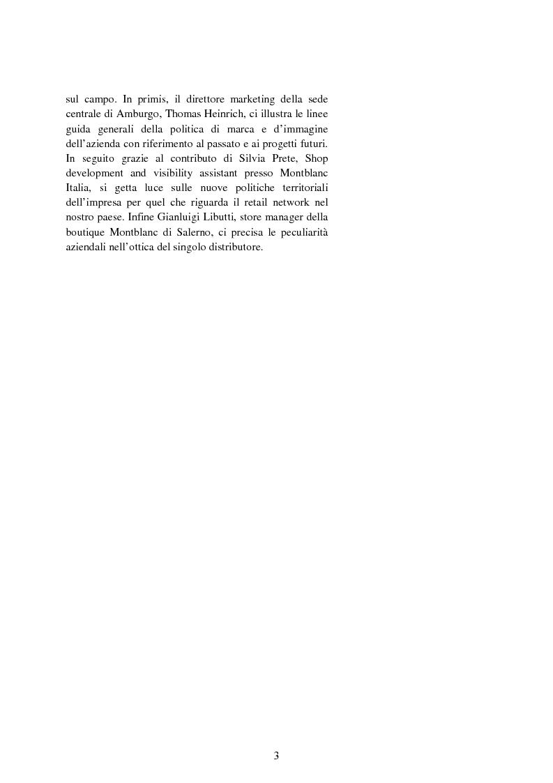 Anteprima della tesi: Il valore strategico della marca nel retail. Il caso Montblanc, Pagina 4