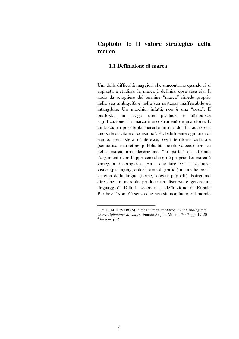 Anteprima della tesi: Il valore strategico della marca nel retail. Il caso Montblanc, Pagina 5
