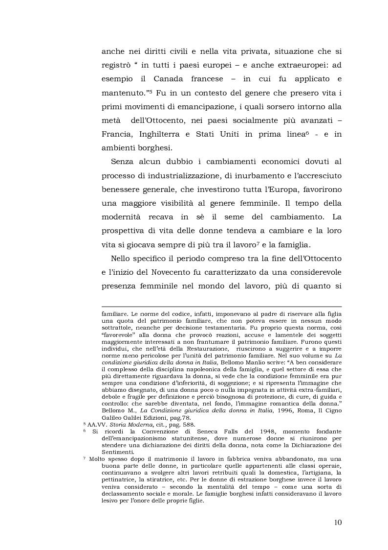 Anteprima della tesi: Donne: tra Fascismo, Guerra e Resistenza (1925 - 1945), Pagina 11