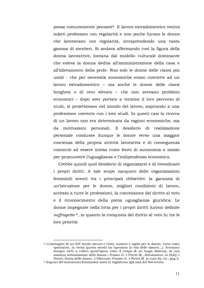 Anteprima della tesi: Donne: tra Fascismo, Guerra e Resistenza (1925 - 1945), Pagina 12