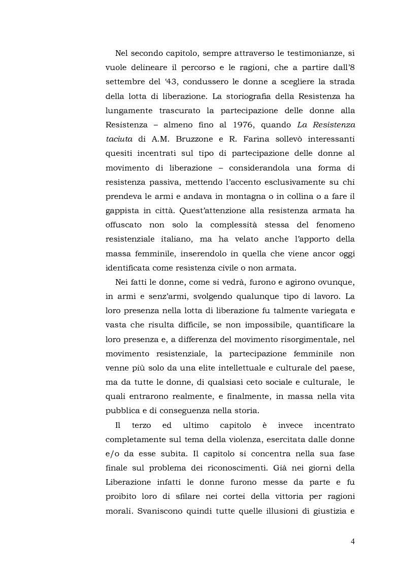 Anteprima della tesi: Donne: tra Fascismo, Guerra e Resistenza (1925 - 1945), Pagina 5