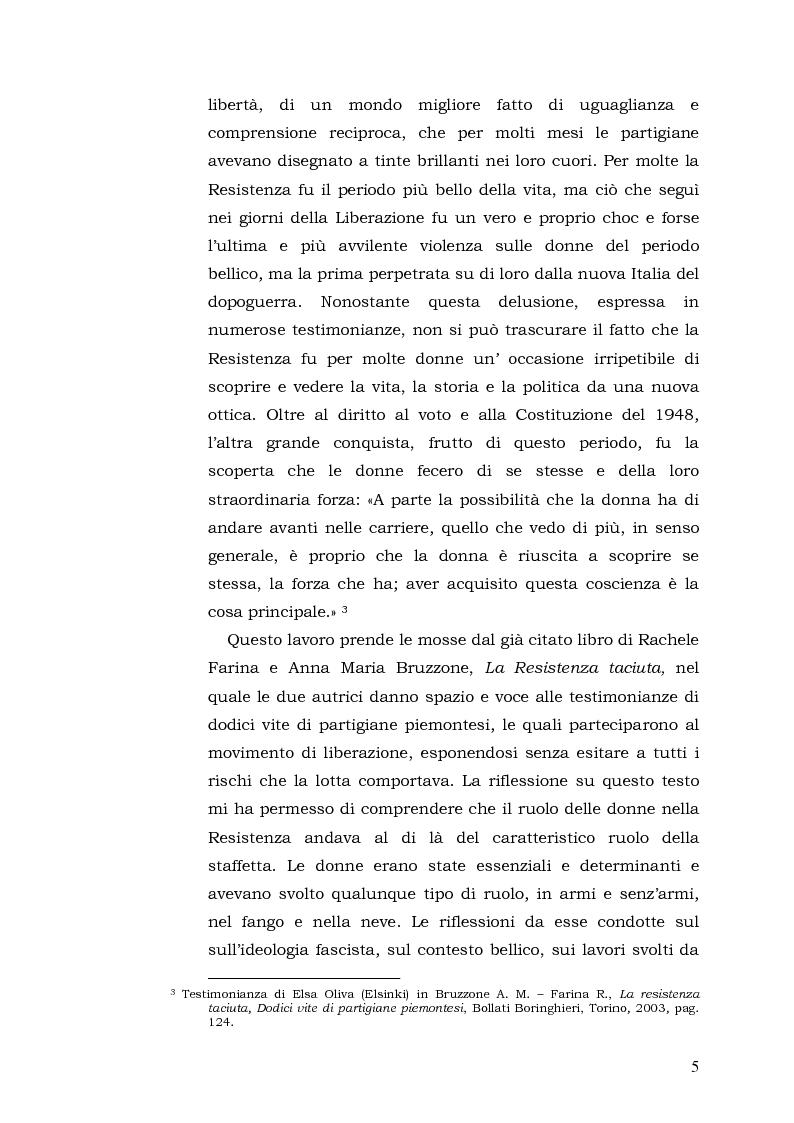 Anteprima della tesi: Donne: tra Fascismo, Guerra e Resistenza (1925 - 1945), Pagina 6