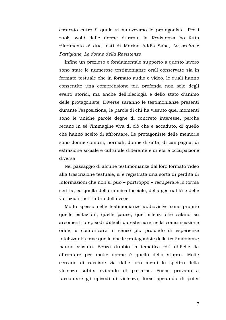 Anteprima della tesi: Donne: tra Fascismo, Guerra e Resistenza (1925 - 1945), Pagina 8