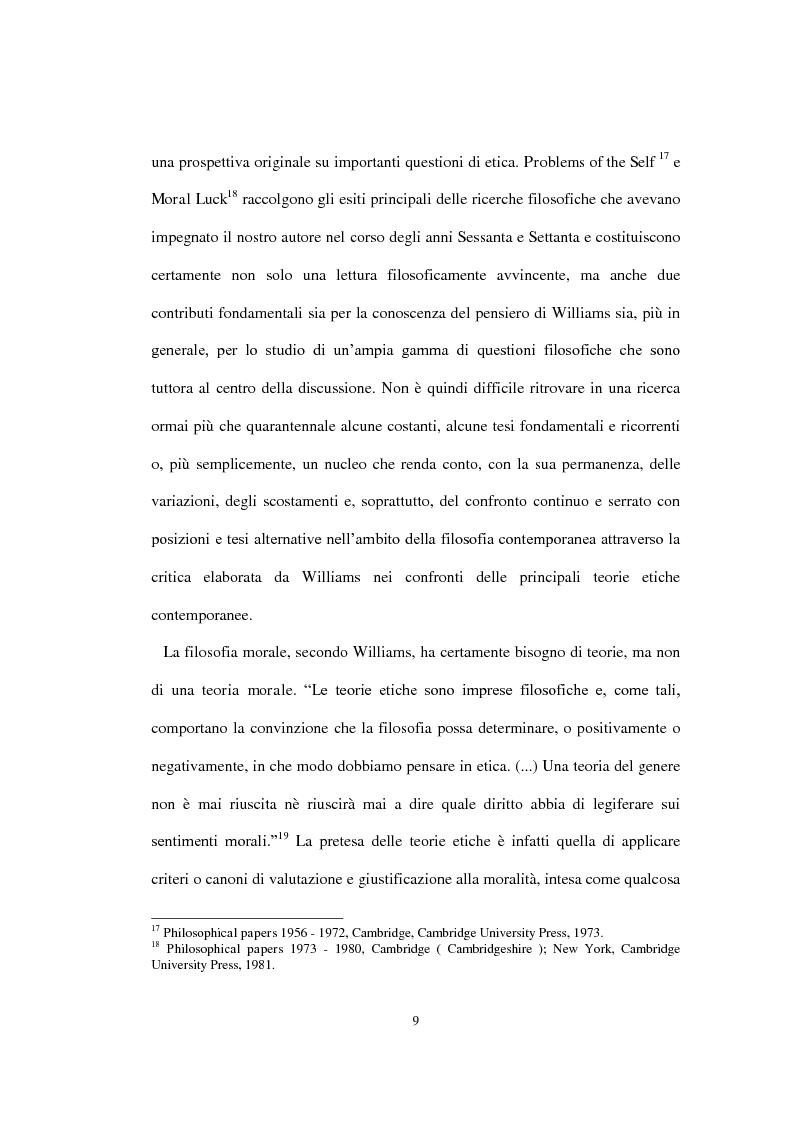 """Anteprima della tesi: La concezione della morale di Bernard Williams; con un saggio di traduzione da """"Morality"""", 1972, Pagina 10"""