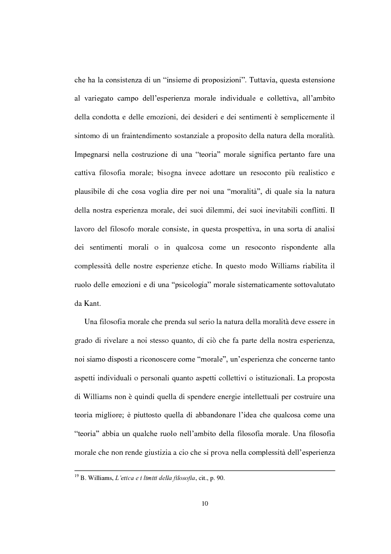 """Anteprima della tesi: La concezione della morale di Bernard Williams; con un saggio di traduzione da """"Morality"""", 1972, Pagina 11"""